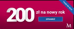 200 zł na nowy rok od Banku Millennium