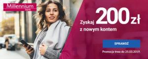 Darmowe konto osobiste z premią 200 zł w promocji bankowej od Banku Millennium