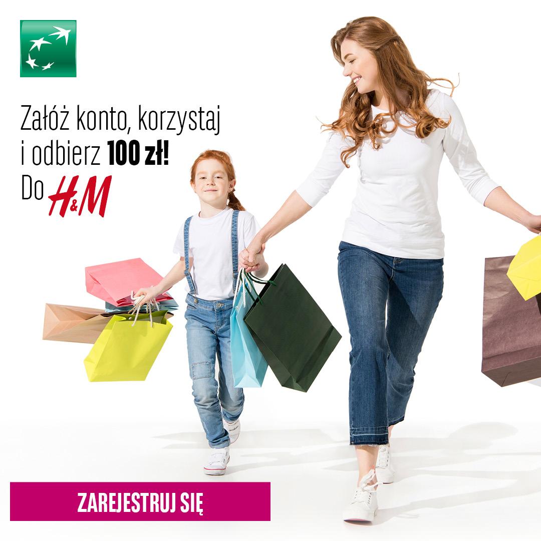 Promocja bankowa z premią 100 zł do H&M
