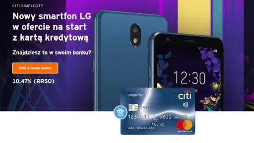 LG K30 Dual Sim za wyrobienie darmowej karty Citi Simplicity