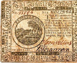 Kontynentale z 1776 roku