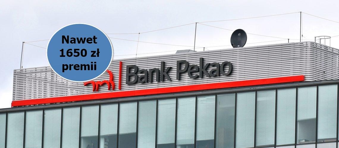 Promocja w której do zdobycia mamy łącznie 1650 zł premii z darmowym kontem osobistym od Pekao S.A.