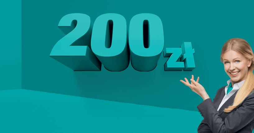 200 zł z darmowym kontem od banku Credit Agricole