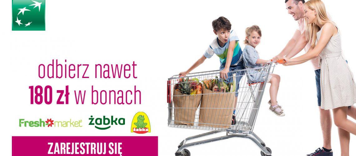 Darmowe 180 zł za płacenie kartą od BGŻ BNP Paribas
