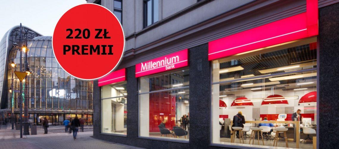220 zł bonusu za założenie darmowego konta od Millennium Bank