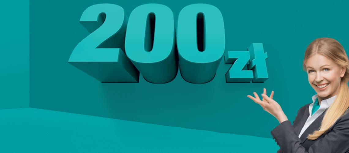 200 zł w gotówce od banku Credit Agricole